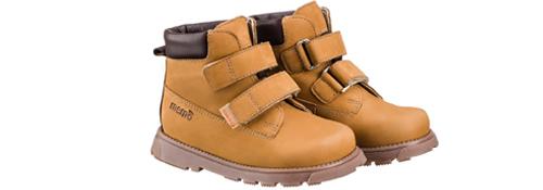 Memo Malmo 1FD Коричневые детские ортопедические демисезонные ботинки (р. 22-36)