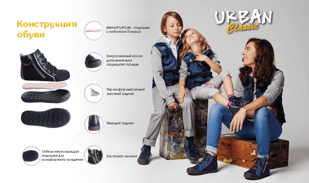Memo New York 1DA Сині - Ортопедичні кросівки для дітей (р.26-38) - Urban Classic