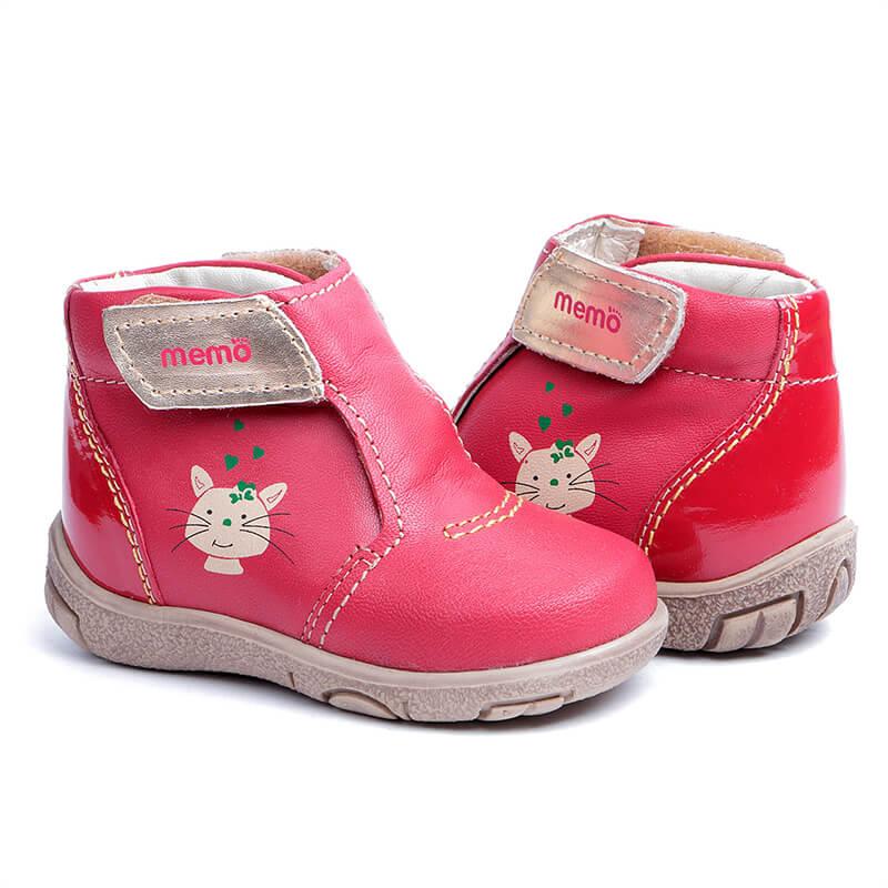 Memo Franklin 3HA Червоні Дитячі ортопедичні демісезонні черевички  (р.18-21) ... 3afbba7edb0a7