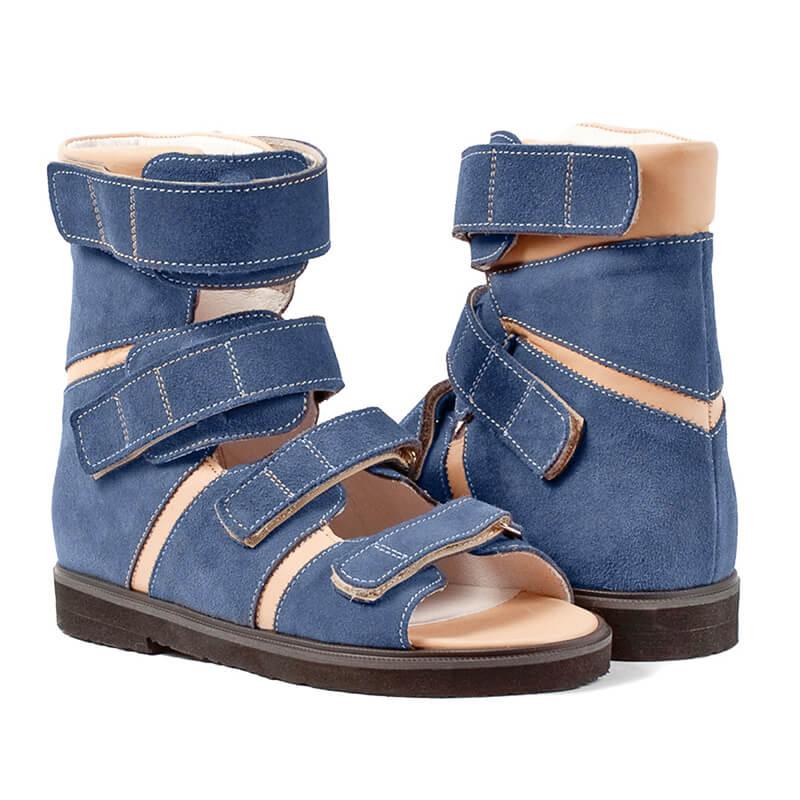 0e5b70aec Ортопедические сандалии для детей с ДЦП Memo Basic Синий нубук