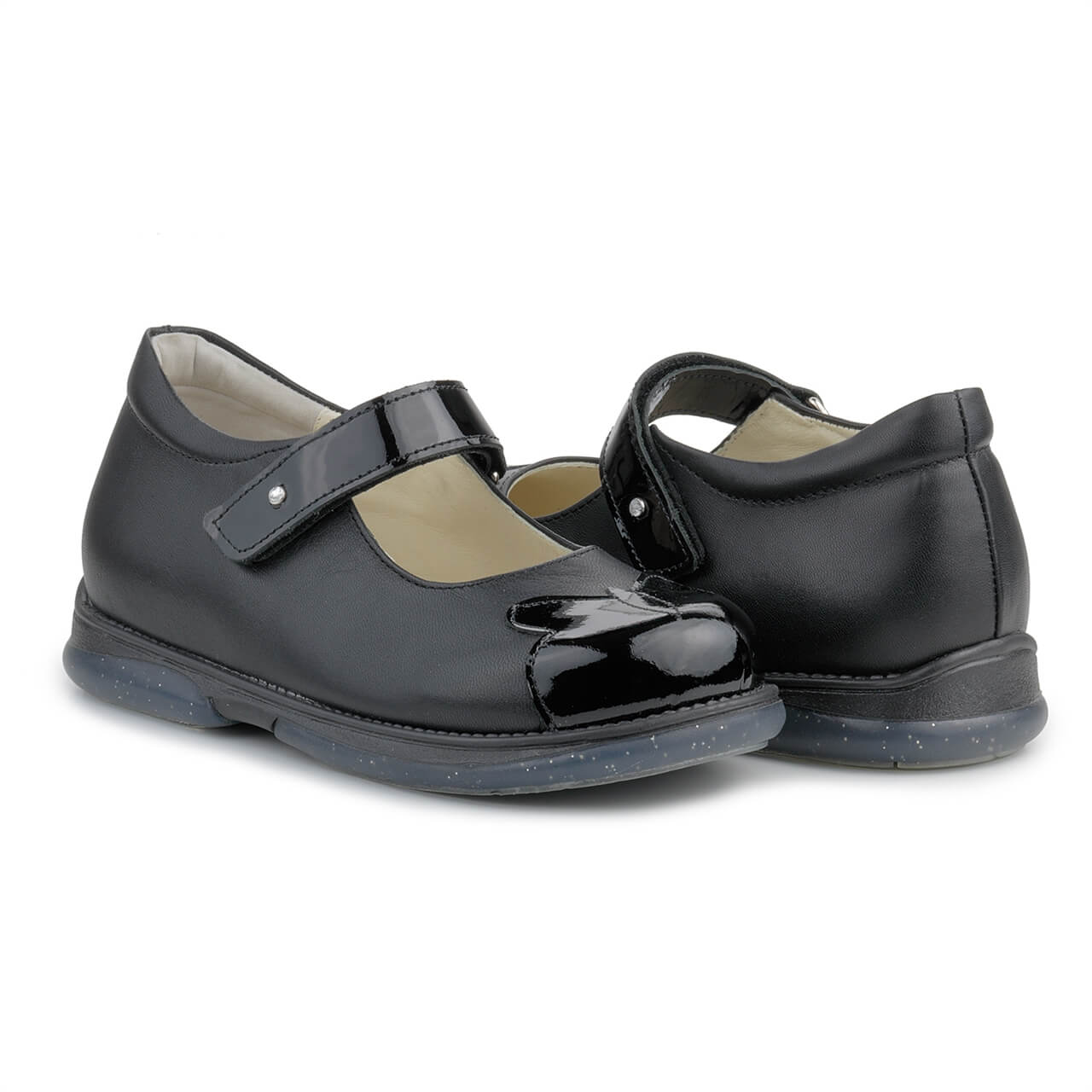 Memo Cinderella 3DA Чорні з лакованими носиками. Ортопедичні туфлі для  дівчат (р.30 4996ed732a4f7