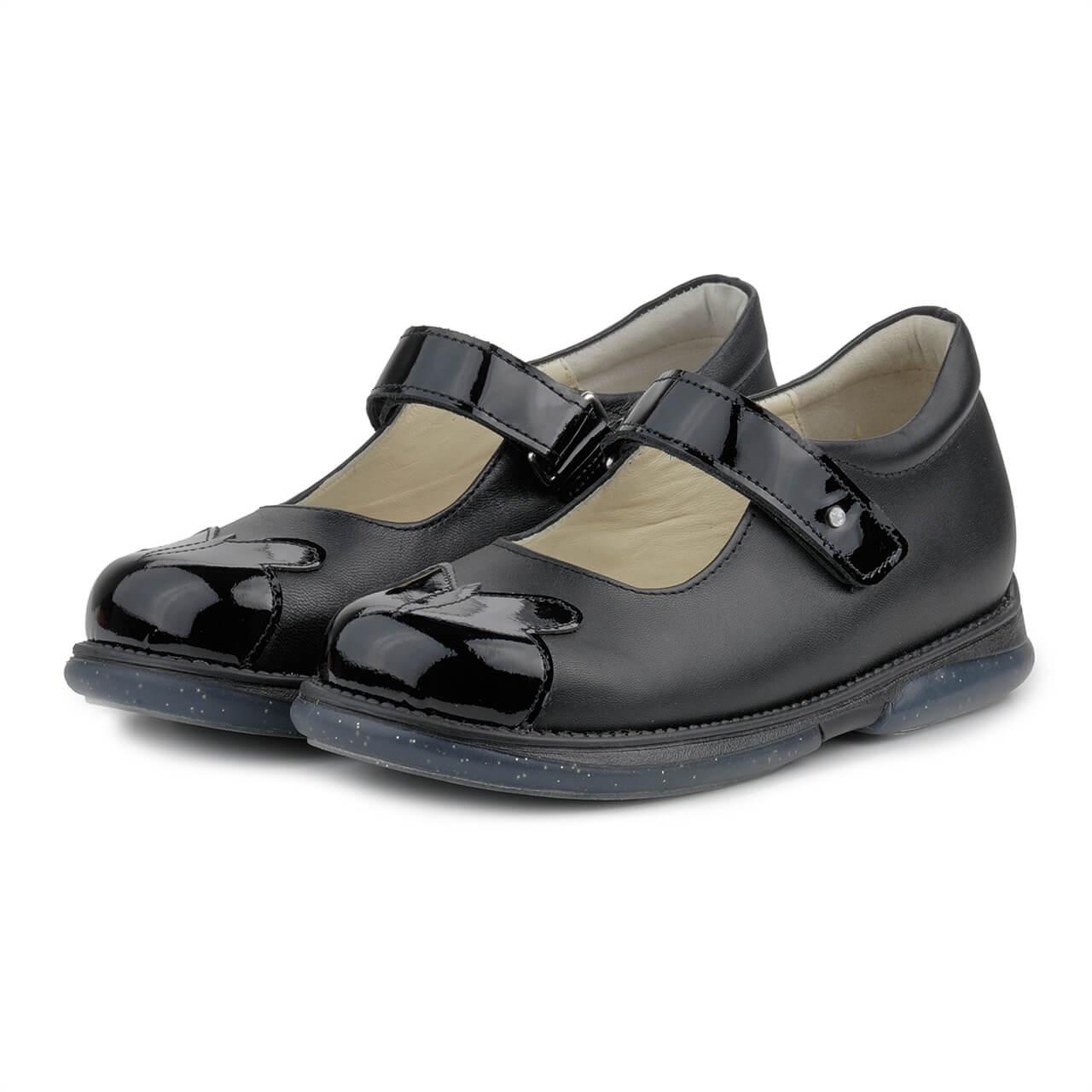 Туфлі ортопедичні Memo Cinderella 3LA Чорні з лакованими носиками р.30-36 146ea8595770c