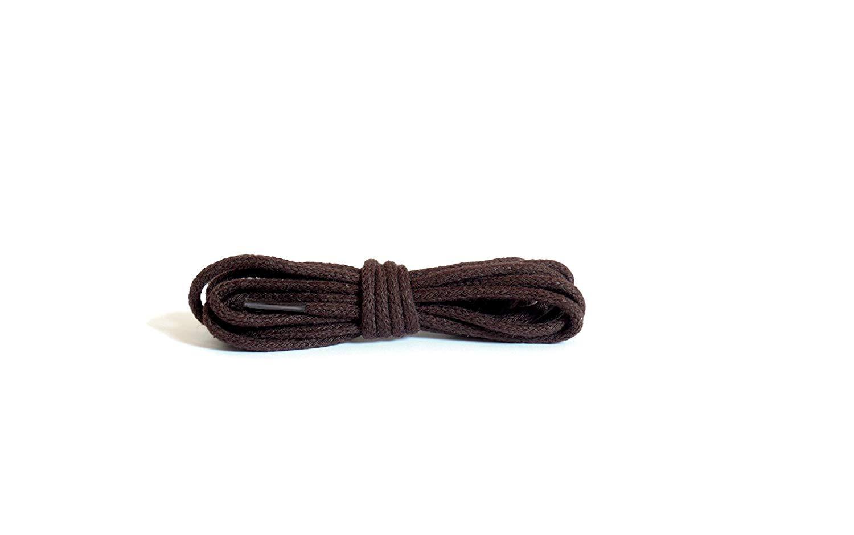Шнурки для обуви Kaps тонкие, круглые коричневые
