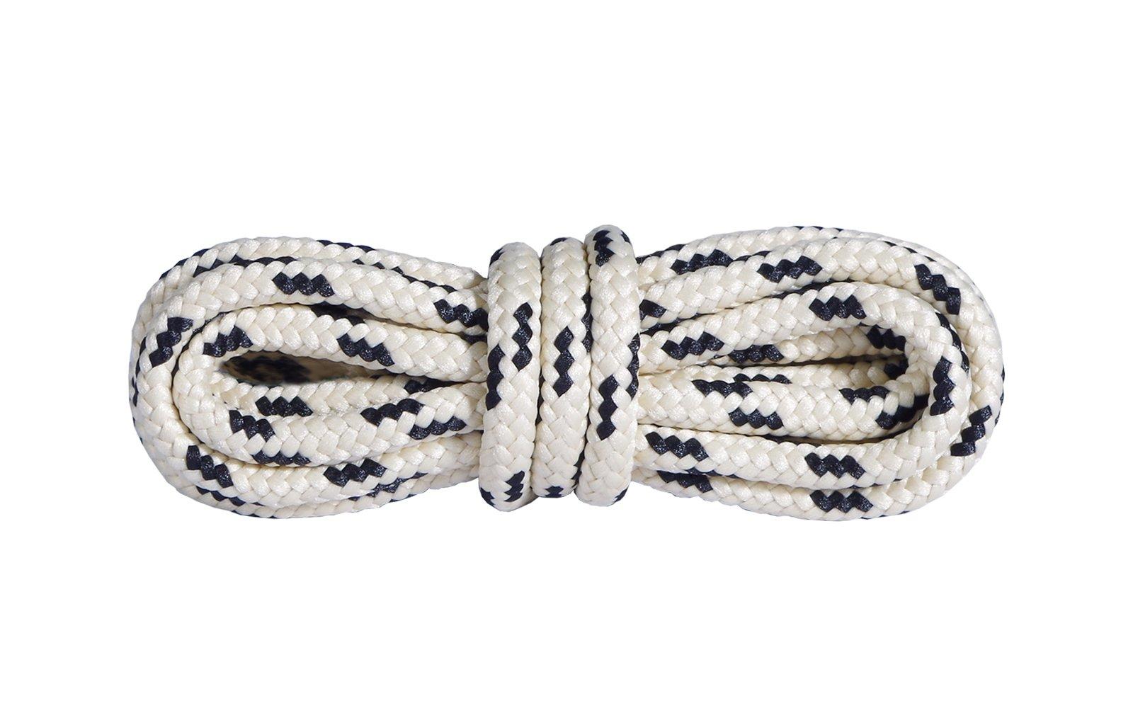Шнурки для взуття Mountval Laces 180 см, Колір шнурків: Бежевий з чорним, image